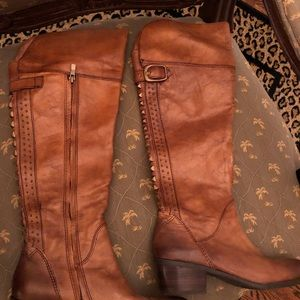 Beautiful studded cognac color boots.
